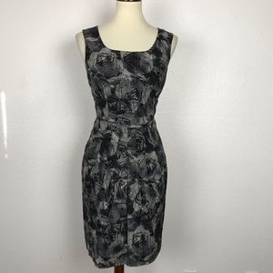 Banana Republic Print Wool Silk Blend Dress